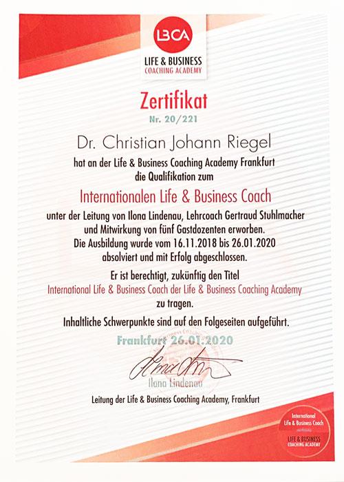 Life und Business Coach Ausbildung Frankfurt Zertifikat Akademie